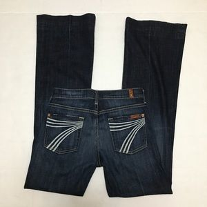 7FAM Dojo Dark Wash Jeans - Size 26